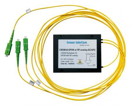 CWDM-Multiplexer CWDM-B-GPON w/ RF-overlay-SC/APC