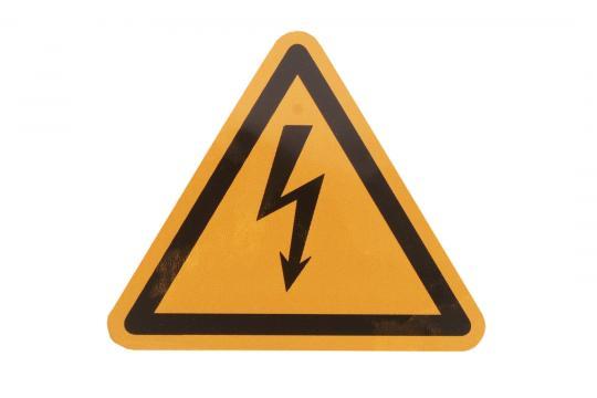 Warnschild Spannung Einzel