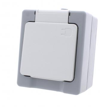 Single power socket IP44